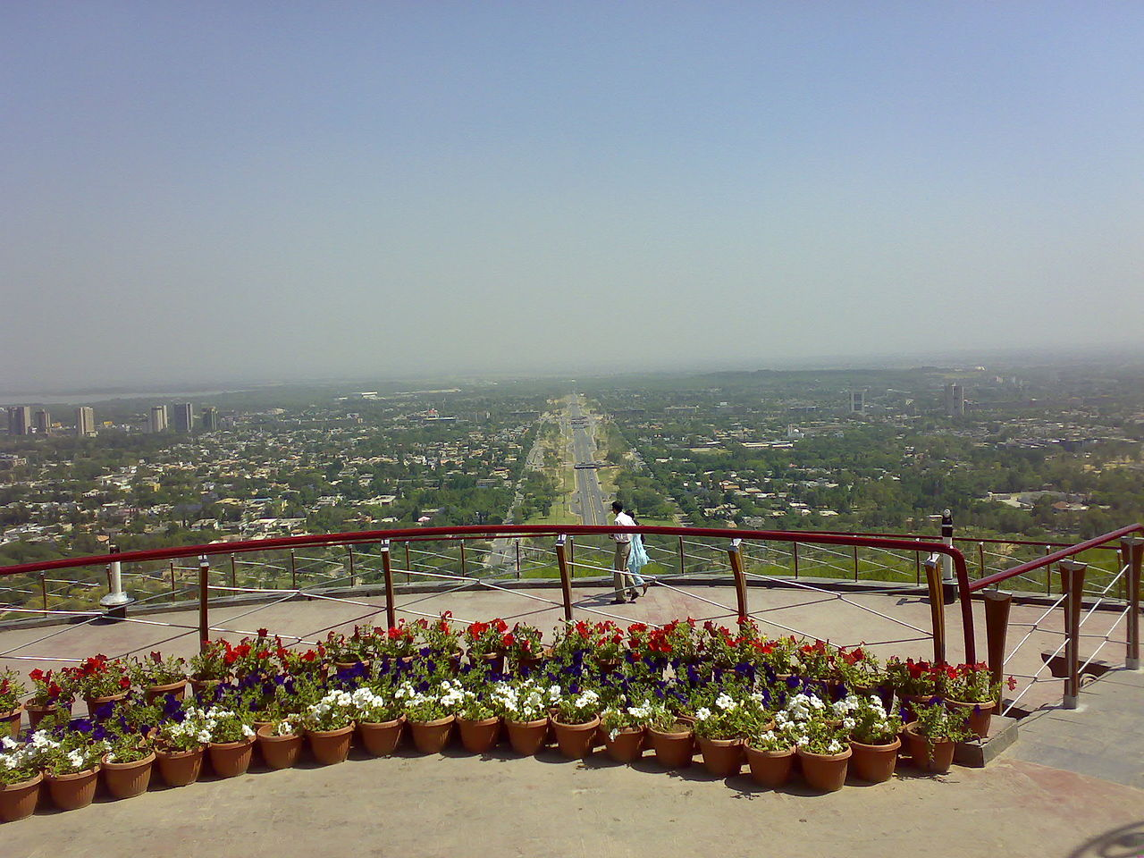 Aerial View of Islamabad from Daman-e-Koh