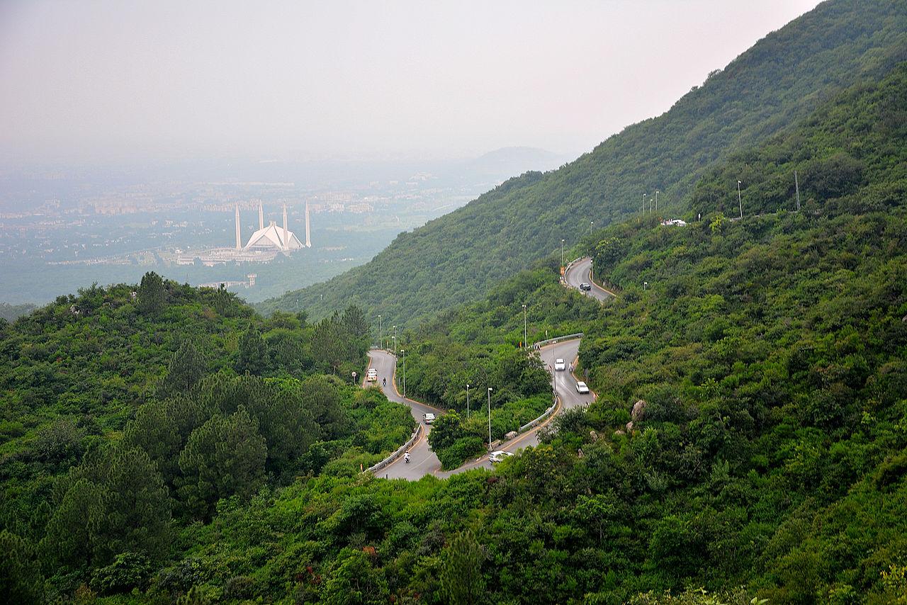 Faisal Masjid from Margalla Hills