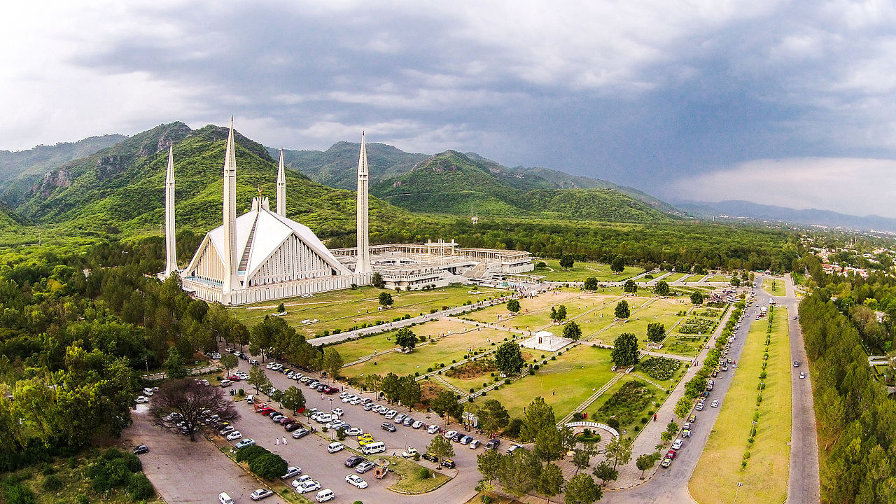 Faisal Mosque & Hills of Margalla