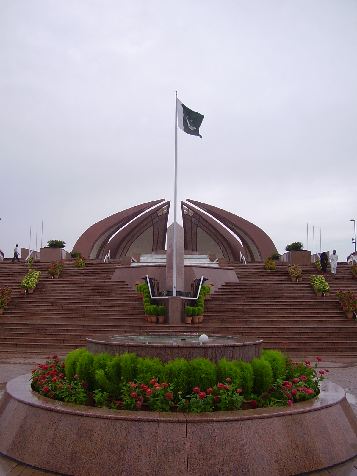 Flag of Pakistan on National Monument