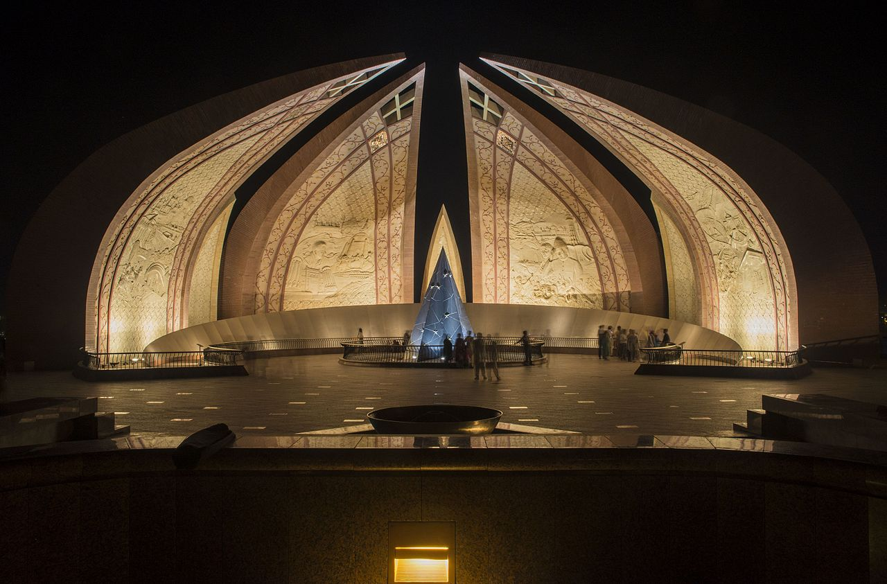 Pakistan Monument at Night